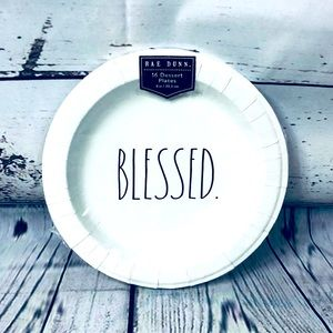Rae Dunn BLESSED Paper Dessert Plates Set of 16